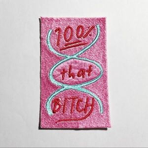 Lizzo 100% That B*tch DNA Embroidered Patch